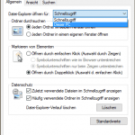 Die Windows Ordneroptionen
