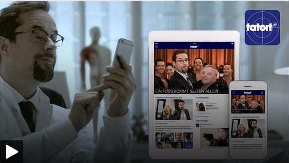 Tatort-App für Apple iOS und Google Android