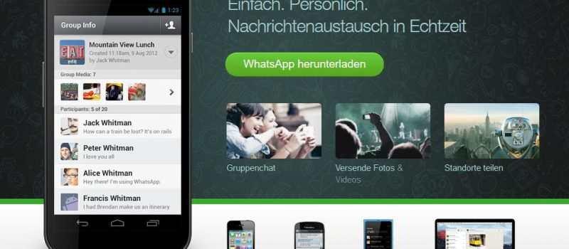 WhatsApp teilt Daten mit Facebook