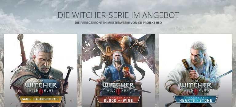 Bis zu 85% Rabatt auf The Witcher Spiele