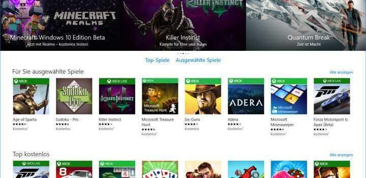 Windows Store Spiele offline spielen