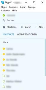 Skype Kompaktansicht