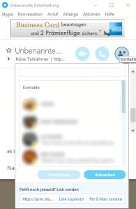 Skype Chat Konferenz