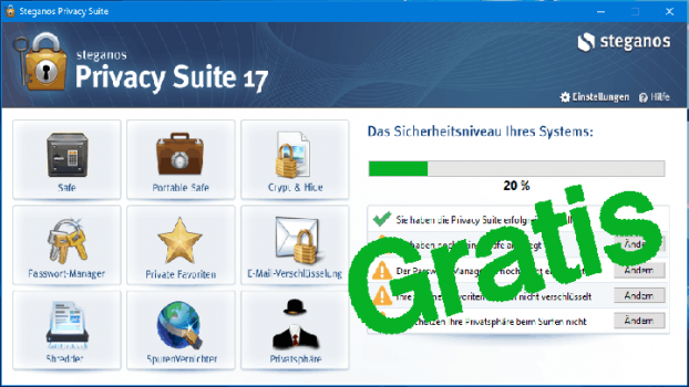 Steganos Privacy Suite 17 gratis