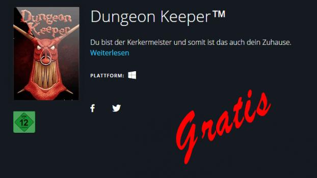 Dungeon Keeper gratis bei Origin