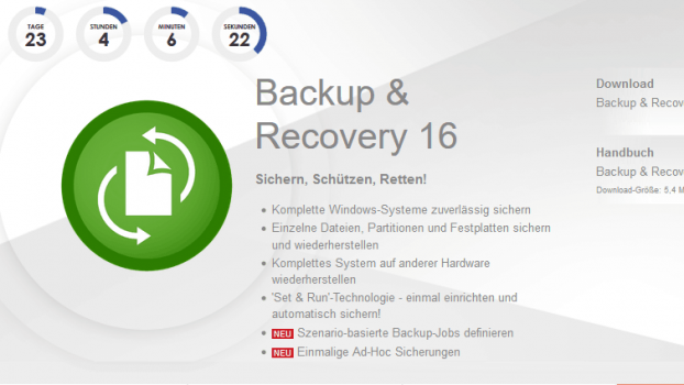 Paragon Backup & Recovery 16 kostenlos