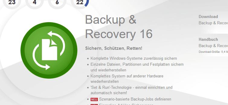 Paragon Backup & Recovery 16 kostenlos