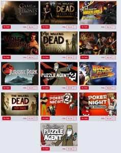 TellTale Games Angebote