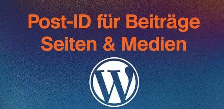 WordPress-Tipp: Post-ID heraus finden