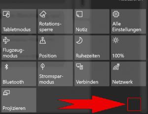 Windows Charms Menü