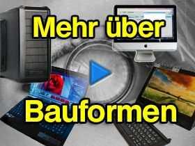 Video mit Informationen über Bauformen von Computern