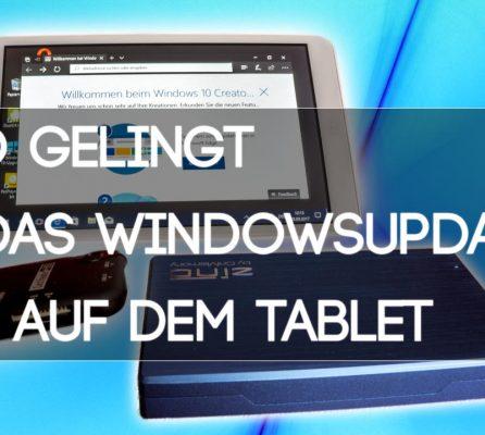 Windows Tablet richtig updaten